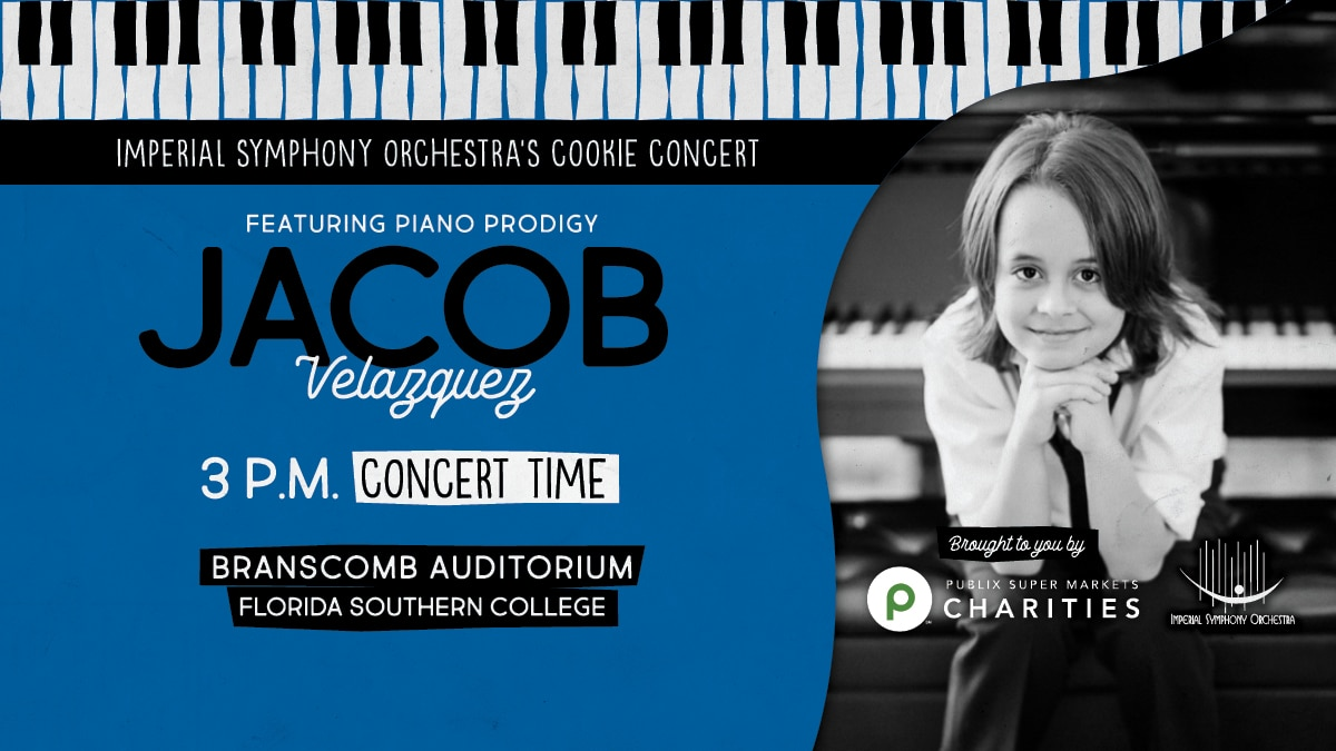 Nine Year Old Piano Prodigy to Join ISO for  Cookie Concert Celebrating Autism Awareness Month