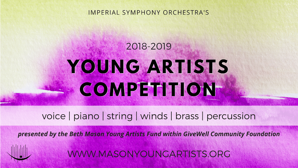 ISO's Young Artists Competition Open Through Sep 30