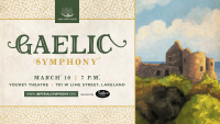 A poster for Gaelic Symphony